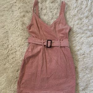 Belted corduroy dress